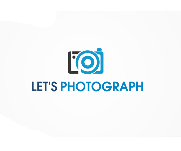 Lets Photography Creative Blue Icon Logo Design 47