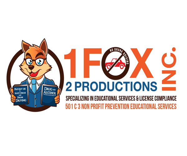 1fox-no-drunk-driving-logo-design-uk