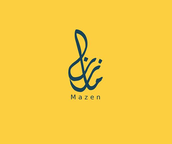 Arabic-Typography-logo-mazen