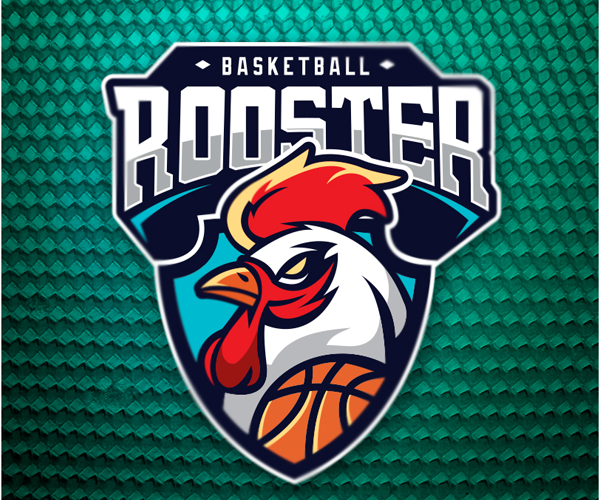 basketball-rooster-logo-design