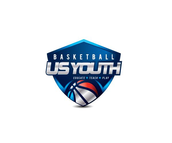 basketball-us-youth-logo-design