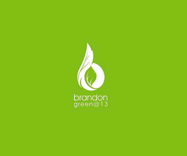 brandon-green-one-letter-logo-design-KSA