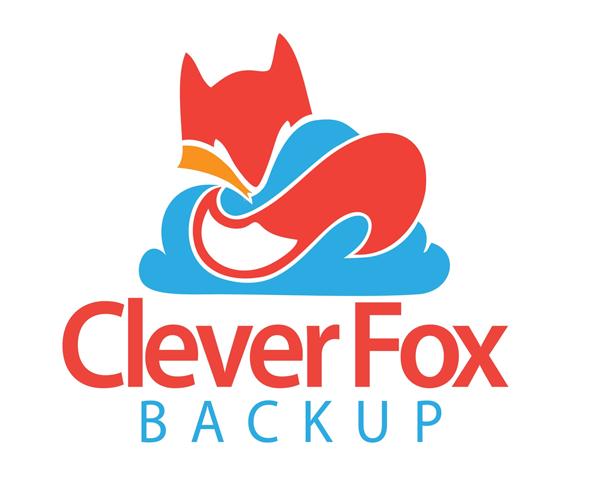 cleaver-fox-backup-logo-design