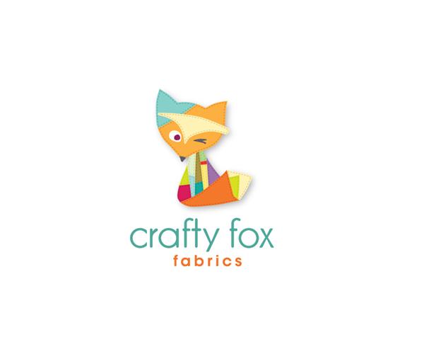 crafty-fox-fabrics-logo-design
