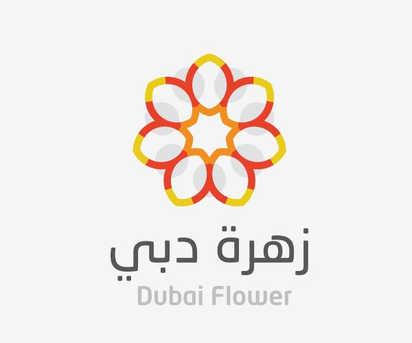 dubai-flower-logo-design