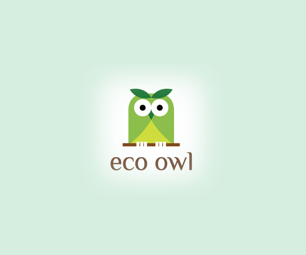 eco-owl-logo-design