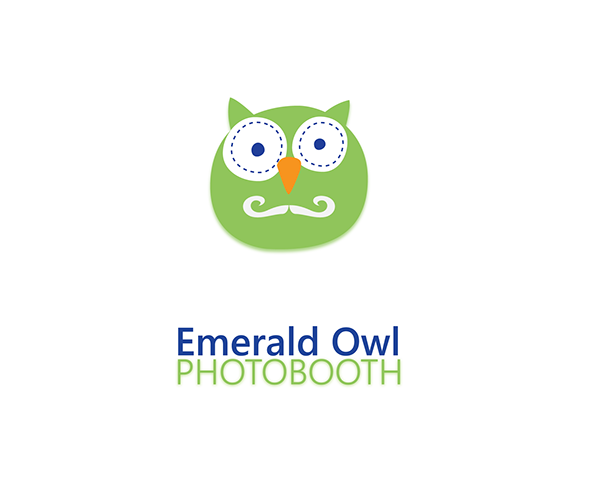 emerald-owl-photobooth-logo-design