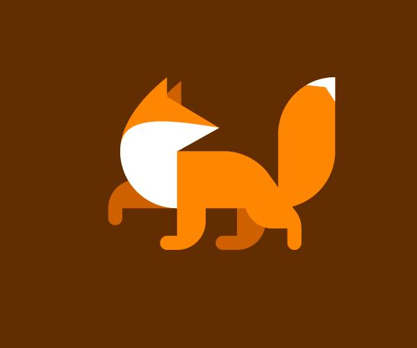 fox-walking-logo-design-free-download-icon