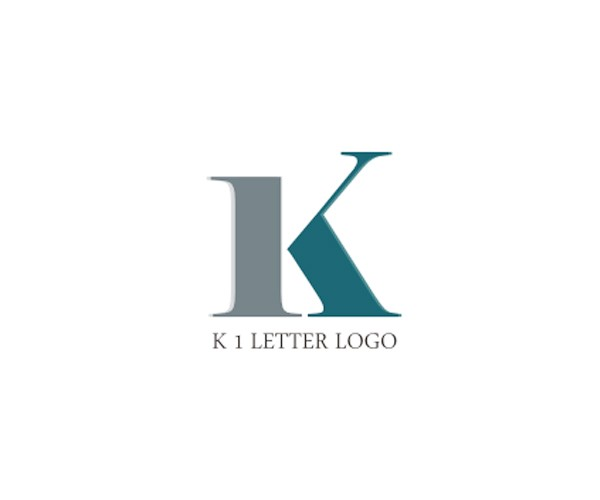 k-1-letter-logo-design-idea