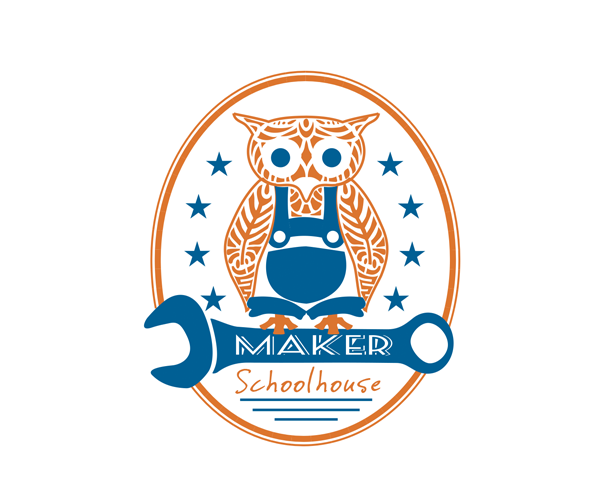 maker-school-house-logo-design