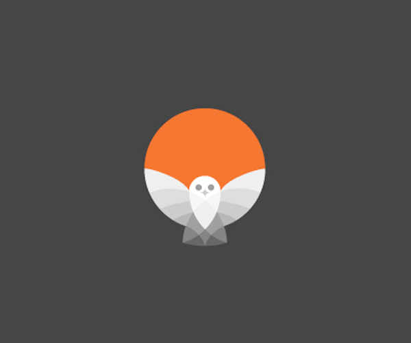 orange-color-owl-logo-design-in-uk