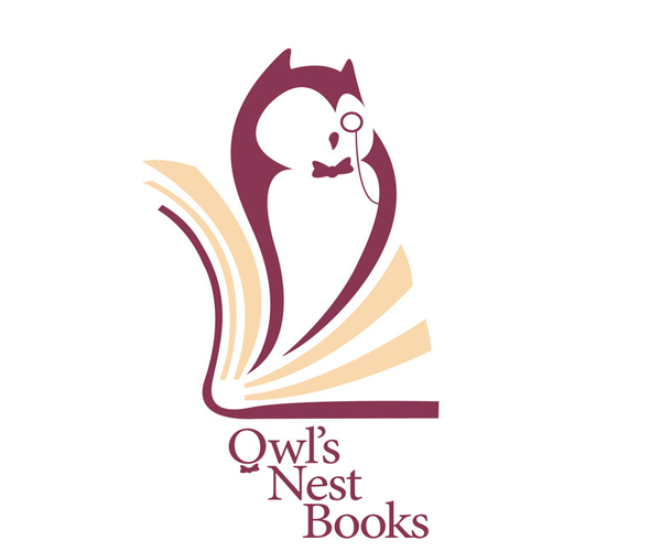 owl-nest-books-logo-design