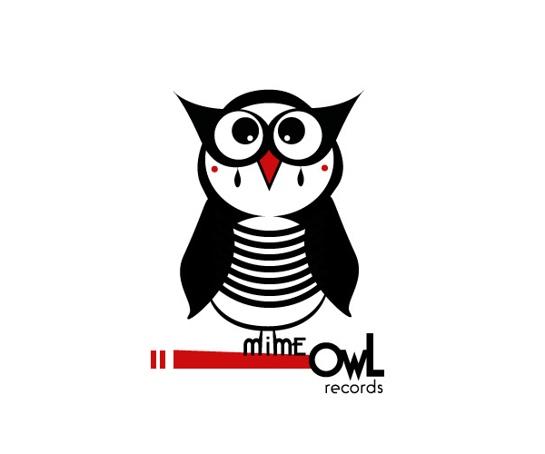 owl-records-logo-design-mime