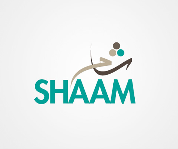 shaam-arabic-text-logo-design