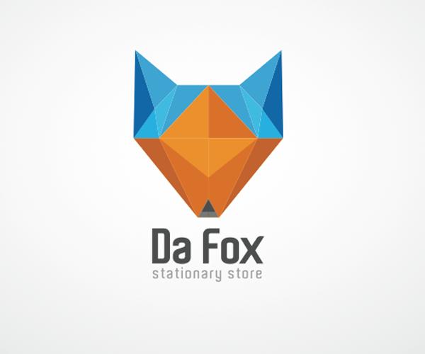 stationary-store-logo-design-fox