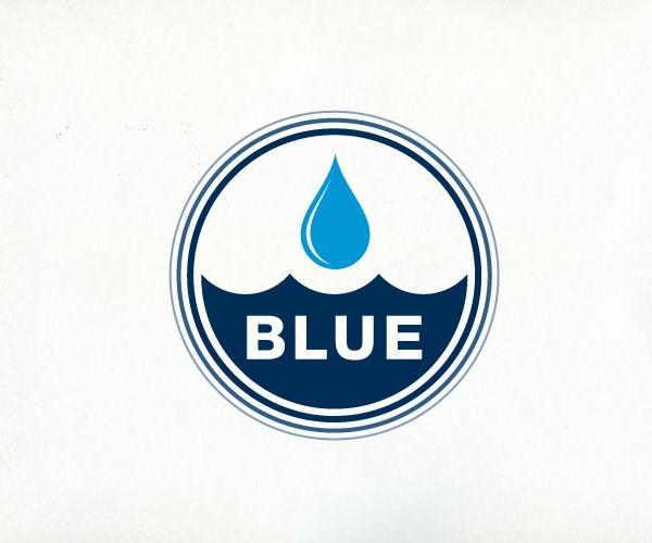 Blue-logo-desige-drop-water