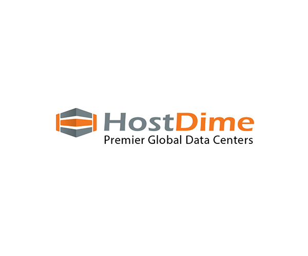 Hostdime-global-hosting-provider-logo-design