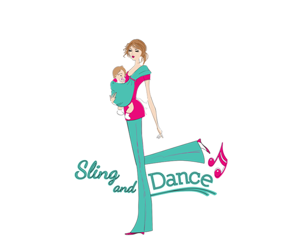 Sling-and-Dance-for-Mom's-and-Babies-logo-design