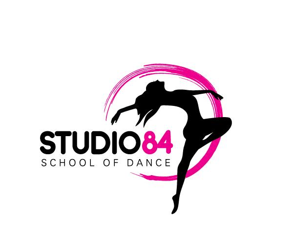 Studio-84-School-of-Dance-logo-designer-uk