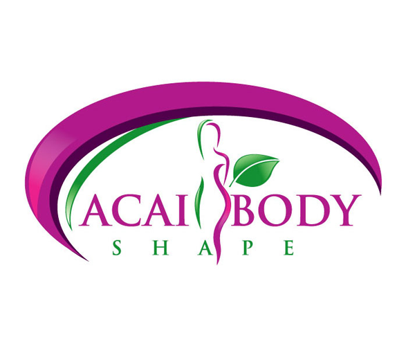 acai-body-shape-logo-design