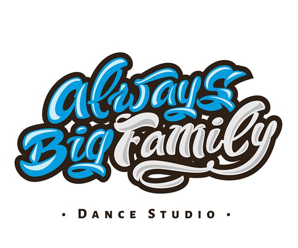 always-big-family-dance-studio-logo-idea