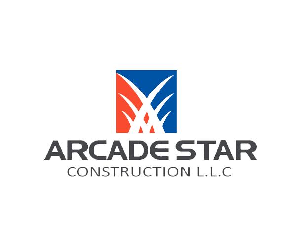 arcade-star-construction-logo-design