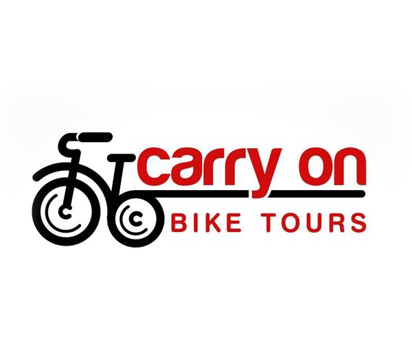 carry-on-bike-tours-logo-design