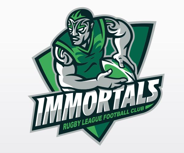 immortals-rugby-league-club-logo-design