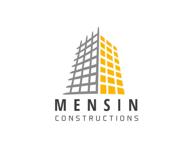 mensin-constructions-logo-design