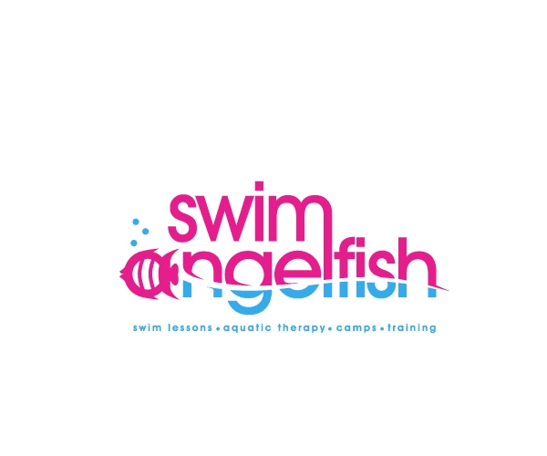 swim-agel-fish-logo-design