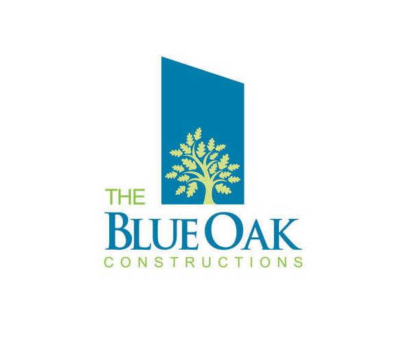 the-blue-oak-construction-logo-design