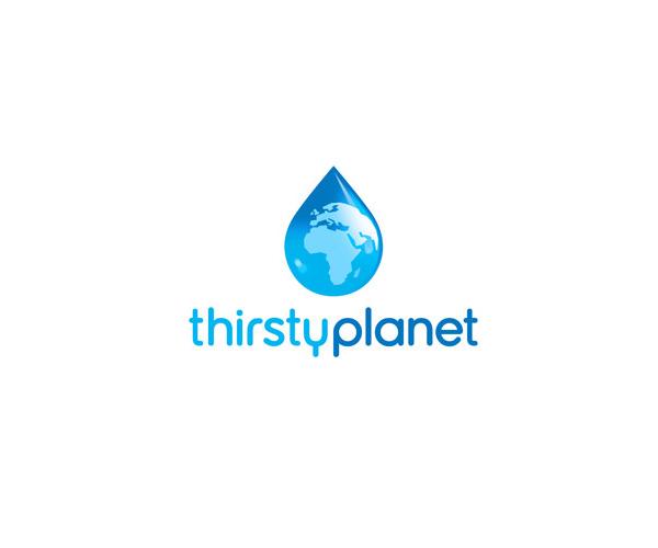 thirsty-planet-logo-design