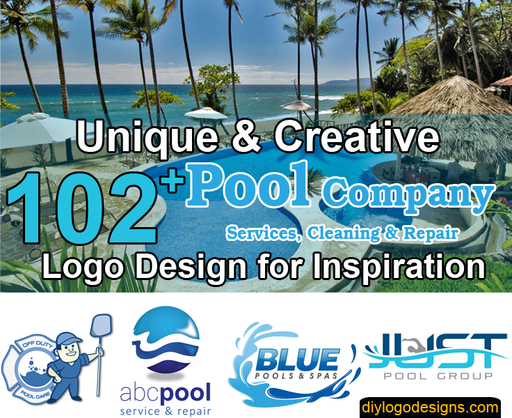 102+ Best Logos for Pool Company Services, Cleaning & Repair