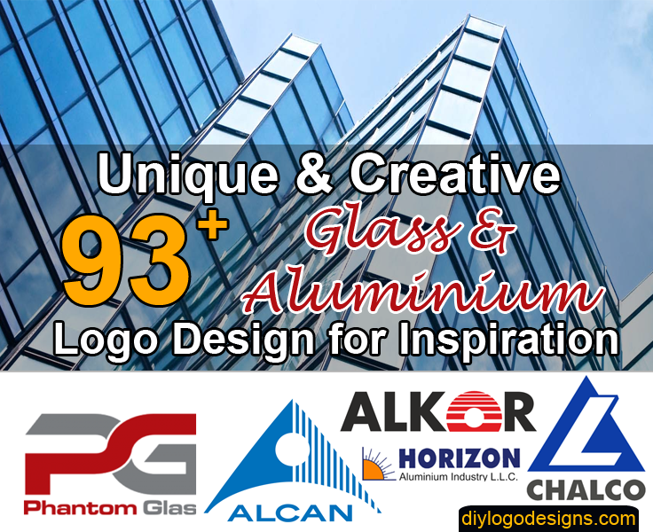 93+ Best Glass and Aluminium Company Logo Design