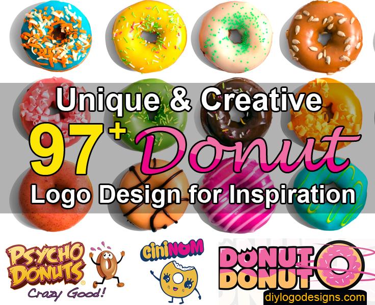 97+ Delicious Donut Logo Design Inspiration