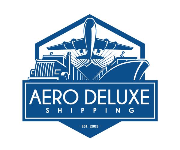 Aero-Deluxe-Shipping-logo-design