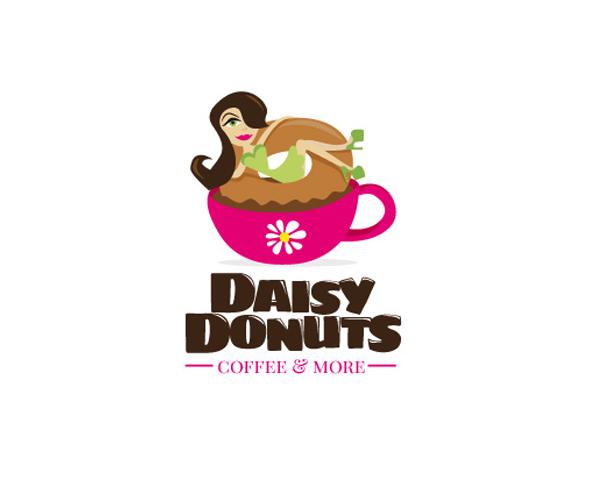 Daisy-Donuts-logo-design-idea