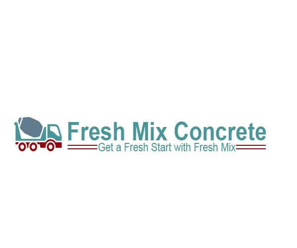 Fresh-Mix-Concrete-logo-design