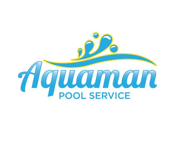 aquaman-pool-service-logo-design