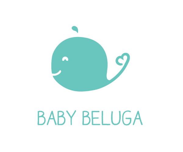 baby-beluga-logo-design-cute