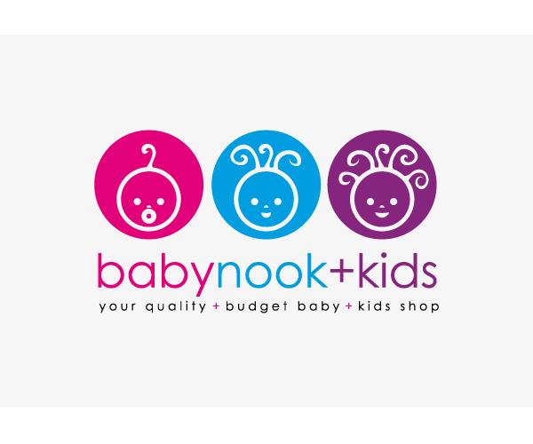 baby-nook-kids-logo-design