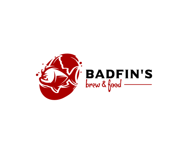 badfins-brew-food-logo-design