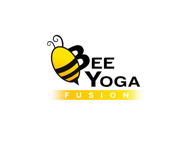 bee-yoga-fusion-logo-design