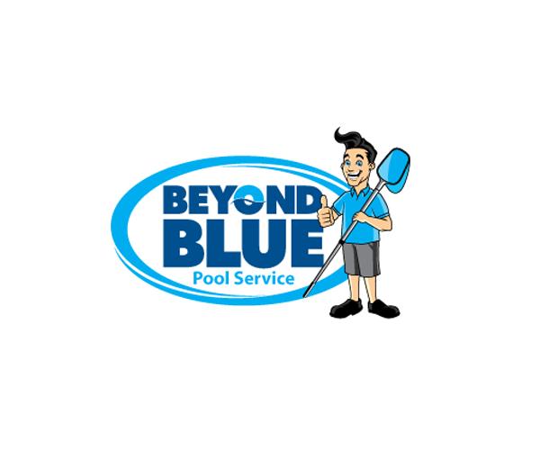 beyond-blue-pool-services-logo-design