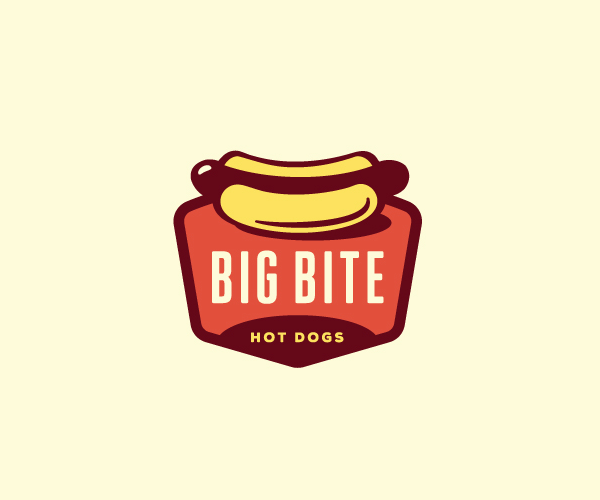 big-bite-hot-dogs-logo-design