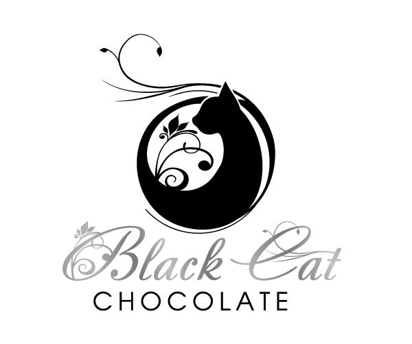 black-cat-chocolate-logo-design-idea
