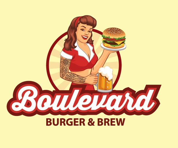 boulevard-burger-and-brew-logo-design