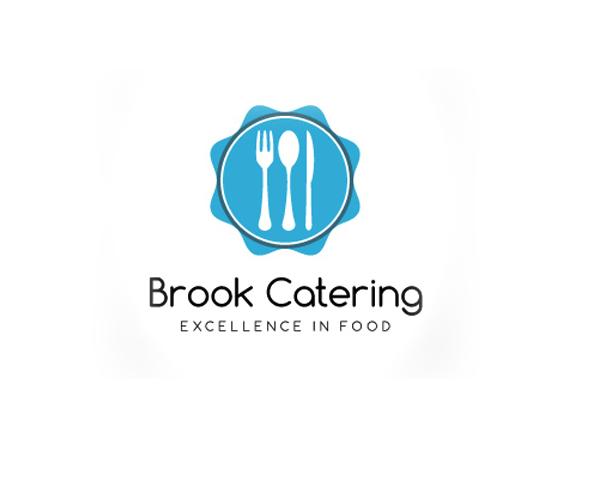 brook-catering-food-logo-design