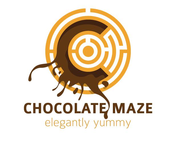 chocolate-maze-logo-design-yummy