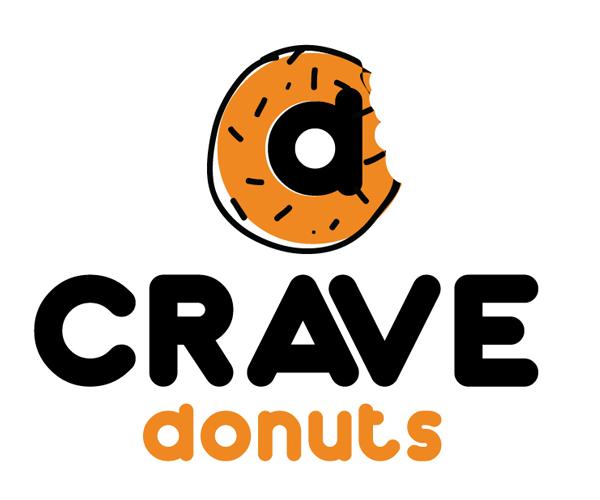 crave-donuts-logo-design